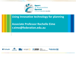 Using innovative technology for planning in sport