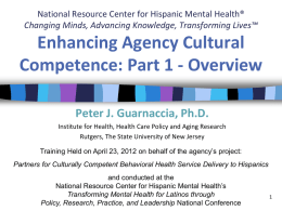 Enhancing Agency Cultural Competence