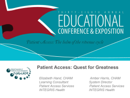 Patient Access: The Quest for Greatness