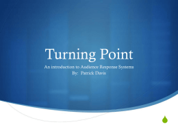 Turning Point Faculty Training