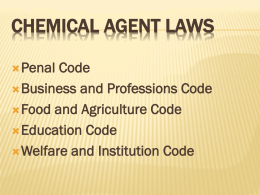 LAWS 1 - Chemical Agent Instructor