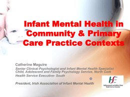 Catherine Maguire on Infant Mental Health Practice