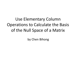 Use Elementary Column Operations to Calculate the Basis of the