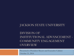 Year End Report - Jackson State University