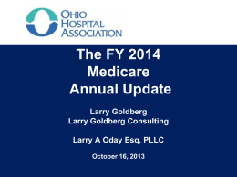 ipps Update For Fy 2014 - Ohio Hospital Association