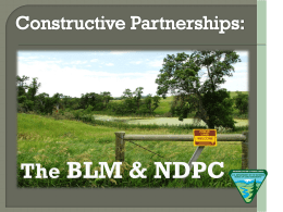 The BLM & NDPC - North Dakota Petroleum Council