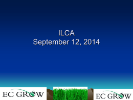 Ernst presentation - Illinois Professional Lawn Care Association