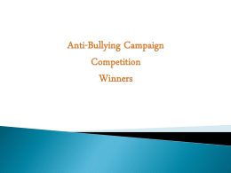 Anti-Bullying Campaign Competition Winners