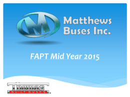 "Matthews Buses (Thomas) Presentation"" By Don Ross"