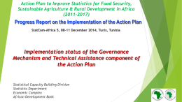 Implementation status of the Governance Mechanism and Technical