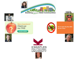 Dr. Kent Mullinix, Kwantlen Polytechnic University – The GMO Apple