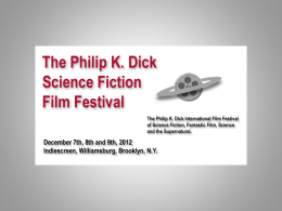 Marketing Strategy - Powerpoint - The Philip K. Dick Film Festival