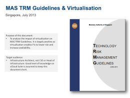 MAS TRM Guidelines n Virtualisation - Technical Analysis