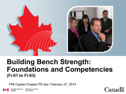 Building Bench Strength: Foundations and Competencies (Fi