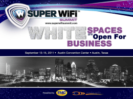 White Space Mobile Devices and the Consumer Market.
