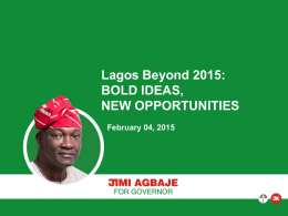 Mr. Olujimi Agbaje`s Presentation - February 2015