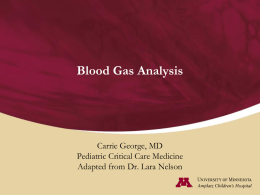 Blood Gas Analysis