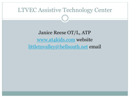 RSCC Overview 2014 - Assistive Technology for Kids
