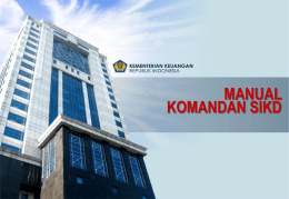 Manual Komandan SIKD