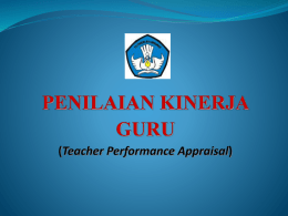 PENILAIAN KINERJA GURU (Teacher Performance