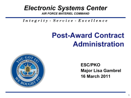 Session 4- Course 22 Post Award Contract Administration_ptI