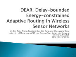 Delay-bounded Energy-constrained Adaptive Routing in Wireless