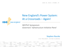 New England`s Power System: At a Crossroads