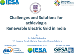 Challenges and Solutions for achieving a Renewable Electric Grid