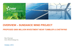 Overview – sundance wind project