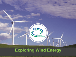 Introduction to Wind Energy