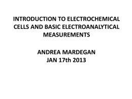 Intro to Electrochemistry Powerpoint