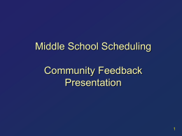 Middle School Presentation