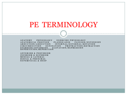 PE terminology - Horton High School