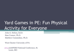 Yard Games in PE: Fun Physical Activity for Everyone
