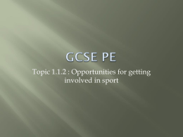 GCSE PE - Myton School PE Department