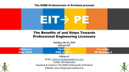 What is a PE Certification? - National Society of Black Engineers