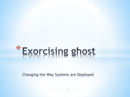 Exorcising Ghost