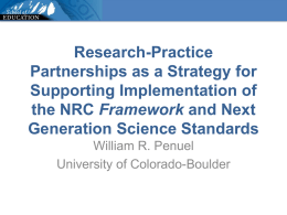 Research-Practice Partnerships as a Strategy for Supporting