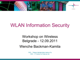 WLAN Information Security