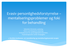 PowerPoint-præsentation - Forum For Mentalisering