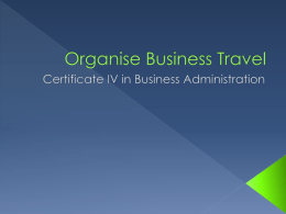 Organise Business Travel Powerpoint