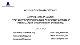 A conflicting interest. or - Arizona Grantmakers Forum