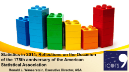 Statistics in 2014 - American Statistical Association