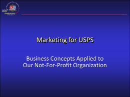 Marketing for USPS
