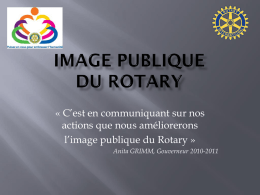 IMAGE PUBLIQUE DU ROTARY - Rotary International District 1680