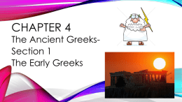 Chapter 4 Ancient Greece 1 ppt
