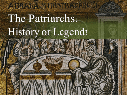 patriarchs - Glenpool Church of Christ