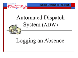 Automated Dispatch Web (ADW)