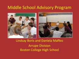 Middle School Advisory Programs