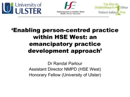 Enabling person-centred practice within HSE West